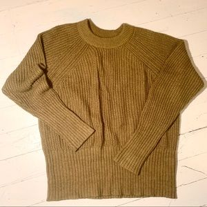 Olive Green Cable Knit Sweater